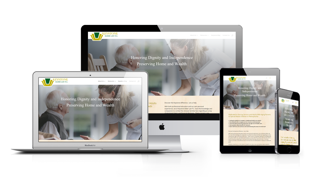 Keystone Elder Law responsive design